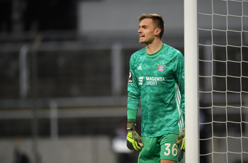 Christian Fruchtl suffers serious injury after returning to Bayern Munich. (Photo by Sebastian Widmann/Getty Images for DFB)