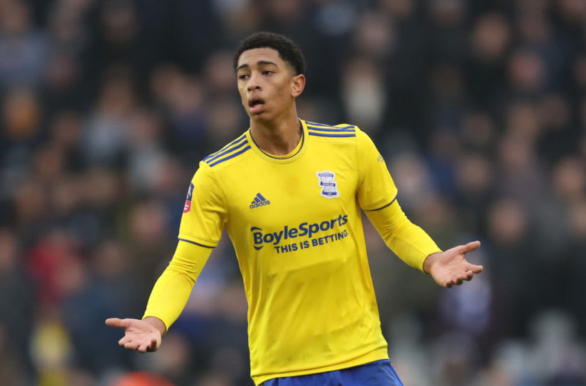 BIRMINGHAM, ENGLAND - JANUARY 25: Jude Bellingham of Birmingham City during the FA Cup Fourth Round match between Coventry City and Birmingham City at St Andrew's Trillion Trophy Stadium on January 25, 2020 in Birmingham, England. (Photo by Marc Atkins/Getty Images)