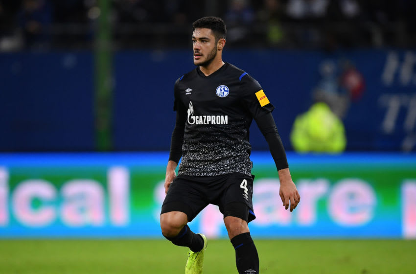 HAMBURG, GERMANY - JANUARY 10: Ozan Kabak of Schalke in action during a friendly match between Hamburger SV and FC Schalke 04 at Volksparkstadion on January 10, 2020 in Hamburg, Germany. (Photo by Stuart Franklin/Bongarts/Getty Images)