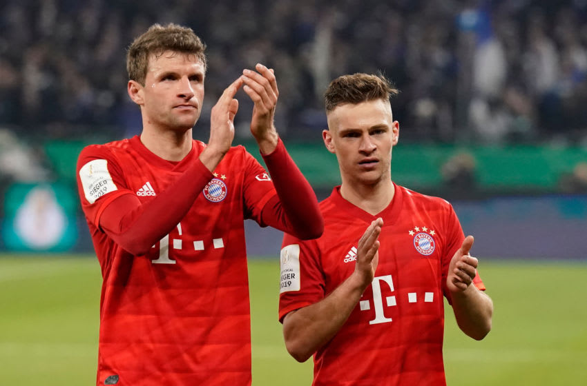 Thomas Muller and Joshua Kimmich remain main men in midfield for FC Bayern Munich. (Photo by Jeroen Meuwsen/Soccrates/Getty Images)