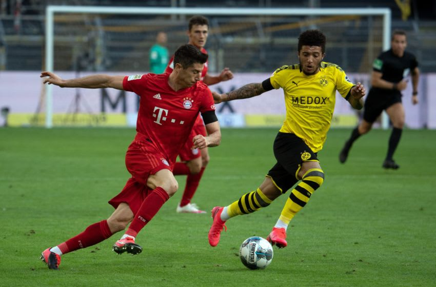 Bayern Munich will have to keep Jadon Sancho quiet in Der Klassiker. (Photo by FEDERICO GAMBARINI/POOL/AFP via Getty Images)
