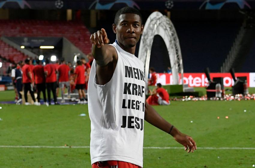 David Alaba, Bayern Munich. (Photo by LLUIS GENE/POOL/AFP via Getty Images)