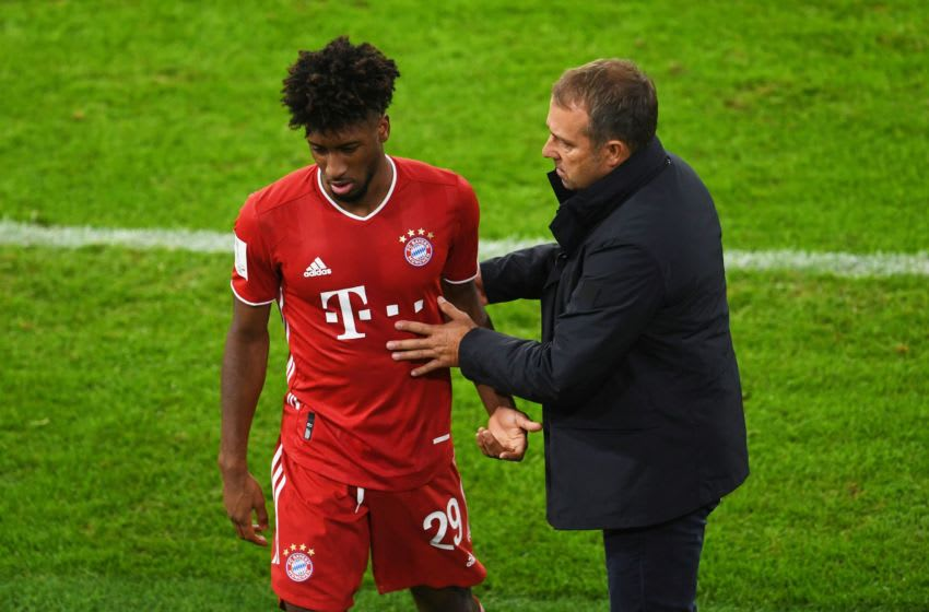 Hansi Flick wants Kingsley Coman to become consistent at FC Bayern Munich.(Photo by ANDREAS GEBERT/X06742/AFP via Getty Images)