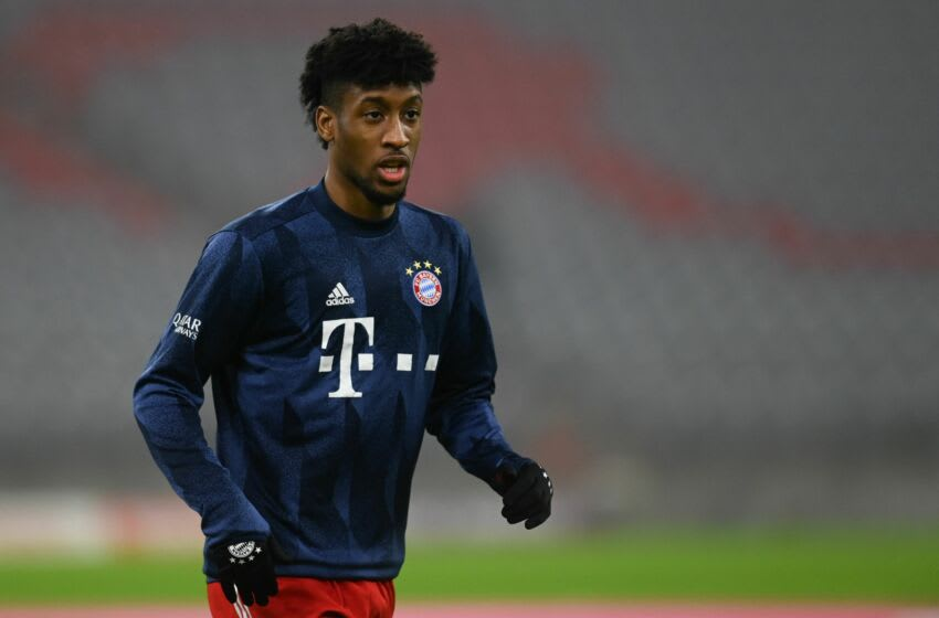 Chelsea reportedly offer swap deal to sign Kingsley Coman from Bayern Munich. (Photo by CHRISTOF STACHE/POOL/AFP via Getty Images)
