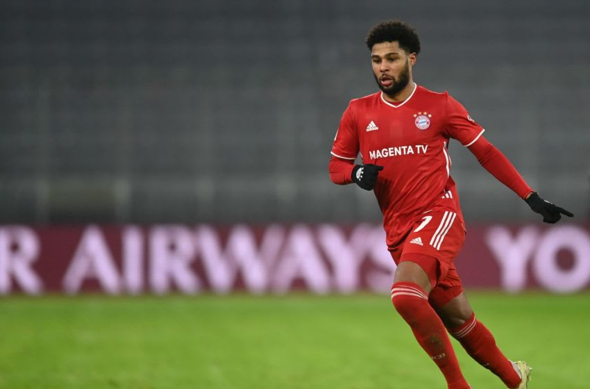 Serge Gnabry is eager to win more Champions League titles with Bayern Munich. (Photo by CHRISTOF STACHE/AFP via Getty Images)