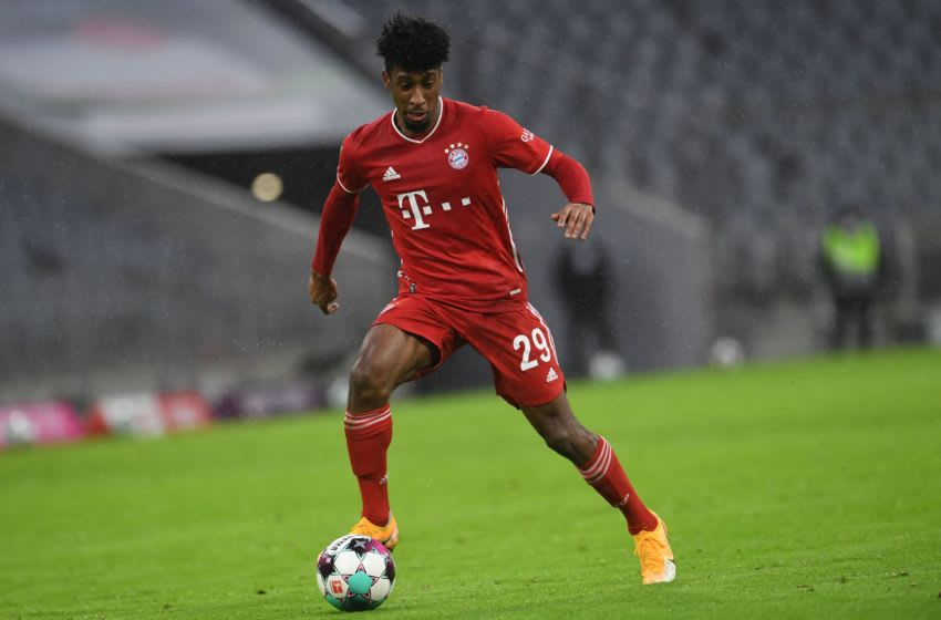 Bayern Munich reach an impasse in contract talks with Kingsley Coman. (Photo by ANDREAS GEBERT/POOL/AFP via Getty Images)