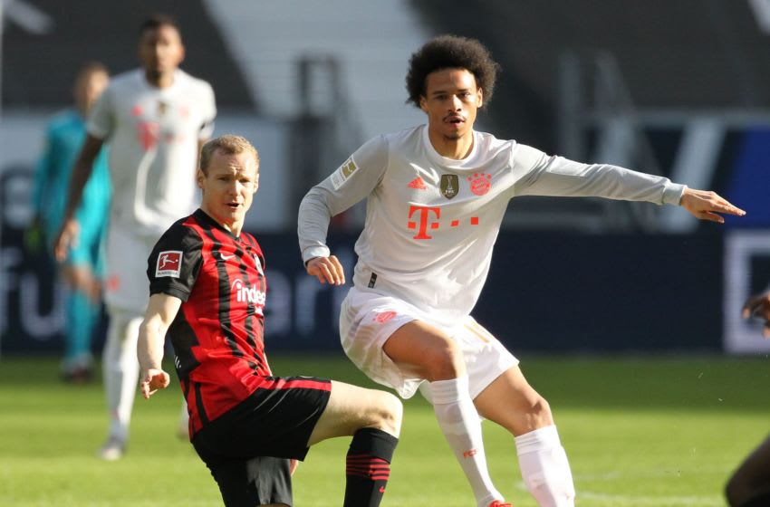 Bayern Munich winger Leroy Sane was one of the few good performers during 2-1 defeat against Eintracht Frankfurt. (Photo by DANIEL ROLAND/POOL/AFP via Getty Images)