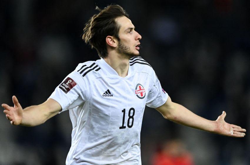 Bayern Munich is interested in Rubin Kazan winger Khvicha Kvaratskhelia. (Photo by KIRILL KUDRYAVTSEV/AFP via Getty Images)
