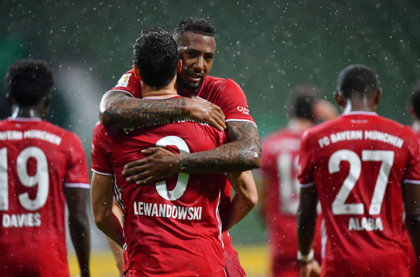Jerome Boateng impressed with FC Bayern Munich teammate Robert Lewandowski. (Photo by Stuart Franklin/Getty Images)