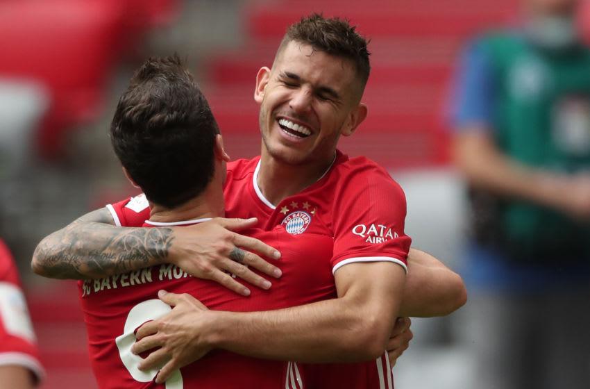 Lucas Hernandez, Bayern Munich. (Photo by Alexander Hassenstein/Getty Images)
