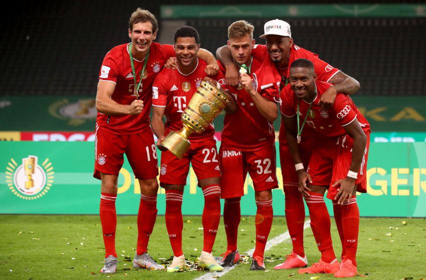 Leon Goretzka, Serge Gnabry, Joshua Kimmich, Jerome Boateng and David Alaba, Bayern Munich. (Photo by Alexander Hassenstein/Getty Images)