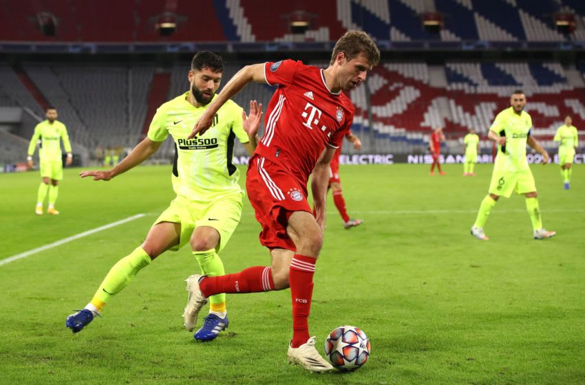 Will Thomas Muller start for Bayern Munich against Atletico Madrid on Tuesday? (Photo by Alexander Hassenstein/Getty Images)