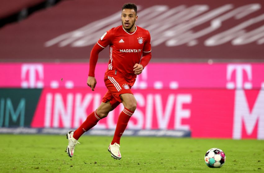 Bayern Munich midfielder Corentin Tolisso is set to have a spell on sidelines due to serious thigh injury. (Photo by Alexander Hassenstein/Getty Images)