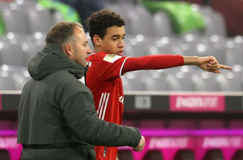 Hansi Flick believes Bayern Munich is perfect club for Jamal Musiala. (Photo by Alexander Hassenstein/Getty Images)