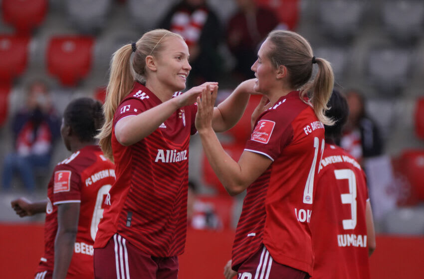 Bayern Munich Frauen remain undefeated in the Bundesliga this season. (Photo by Johannes Simon/Getty Images)