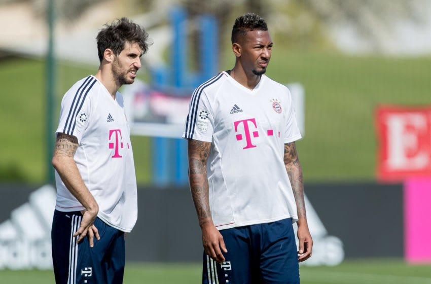 Javi Martinez and Jerome Boateng, Bayern Munich. (Photo by TF-Images/TF-Images via Getty Images)