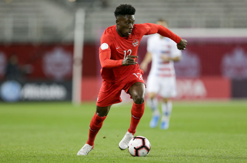 Bayern Munich full-back Alphonso Davies was in fine form for Canada. (Photo by John Dorton/ISI Photos/Getty Images)