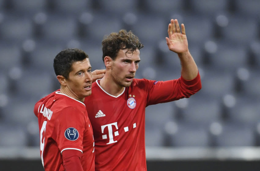 Bayern Munich will hope Leon Goretzka and Robert Lewandowski will be at their best against Lazio. (Photo by ANDREAS GEBERT/POOL/AFP via Getty Images)