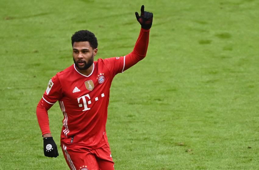 Serge Gnabry, Bayern Munich. (Photo by MATTHIAS BALK/POOL/AFP via Getty Images)