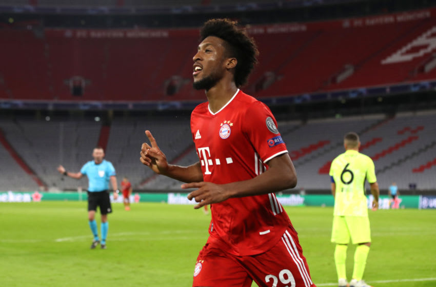 Kingsley Coman is enjoying his best form at Bayern Munich. (Photo by Alexander Hassenstein/Getty Images)