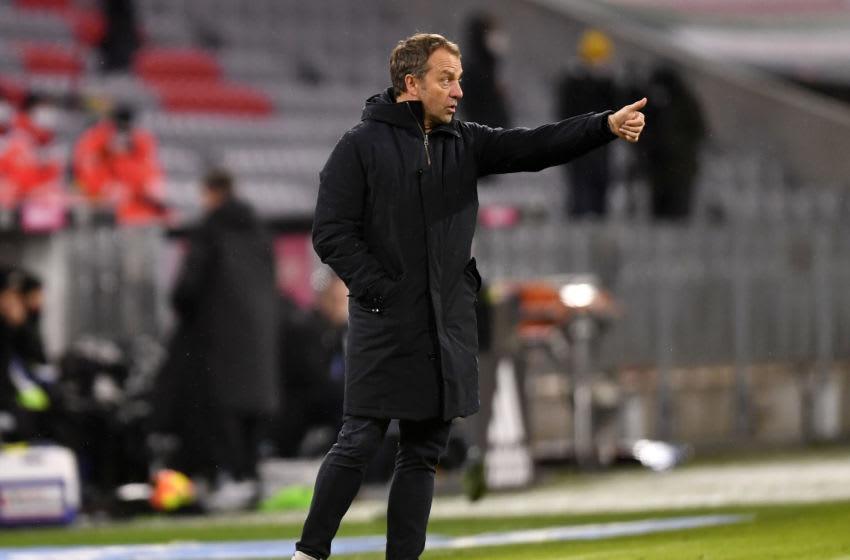 Hansi Flick, Bayern Munich manager.(Photo by Lukas Barth-Tuttas - Pool/Getty Images)