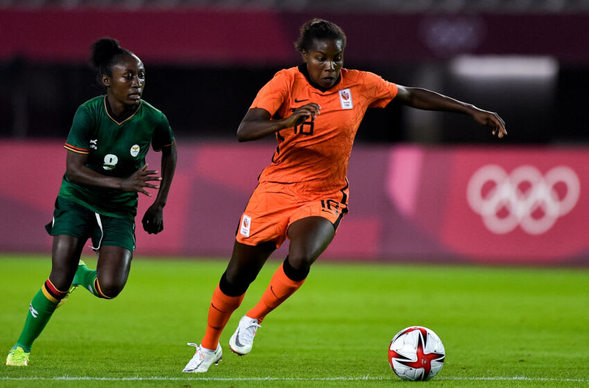 Bayern Munich Frauen star Lineth Beerensteyn featured for Netherlands in big win against Zambia in first matchday of Tokyo Olympics. (Photo by Pablo Morano/BSR Agency/Getty Images)