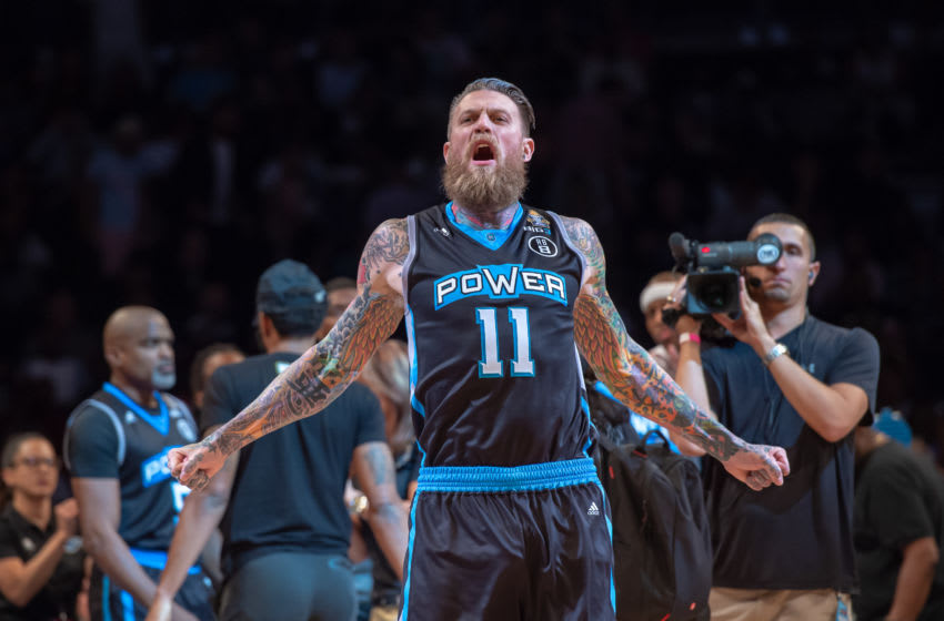 BROOKLYN, NY - AUGUST 24: Power's Chris Andersen (11) during the BIG3 Basketball Championship game between 3's Company and Power on August 24, 2018 at Barclays Center in Brooklyn, NY (Photo by John Jones/Icon Sportswire via Getty Images)