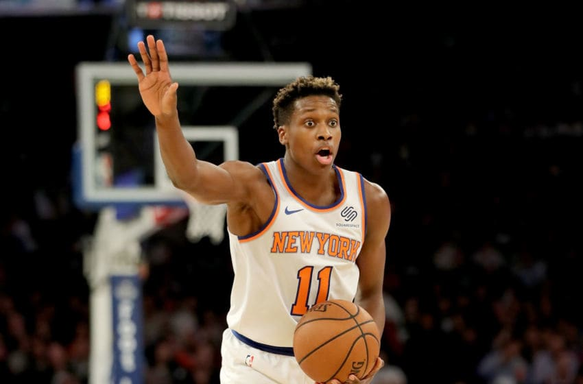 Frank Ntilikina Memphis Grizzlies (Photo by Elsa/Getty Images)