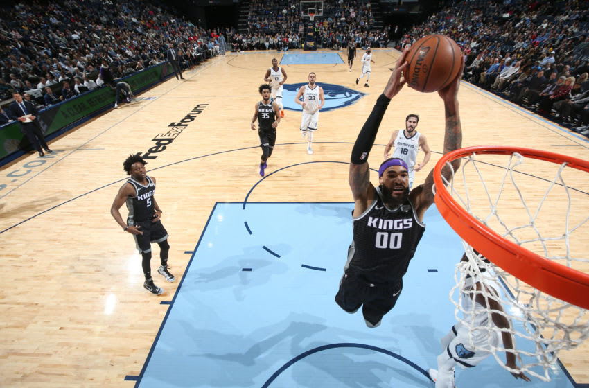 MEMPHIS, TN - JANUARY 25: Willie Cauley-Stein #00 of the Sacramento Kings dunks the ball against the Memphis Grizzlies on January 25, 2019 at FedExForum in Memphis, Tennessee. NOTE TO USER: User expressly acknowledges and agrees that, by downloading and or using this photograph, User is consenting to the terms and conditions of the Getty Images License Agreement. Mandatory Copyright Notice: Copyright 2019 NBAE (Photo by Joe Murphy/NBAE via Getty Images)