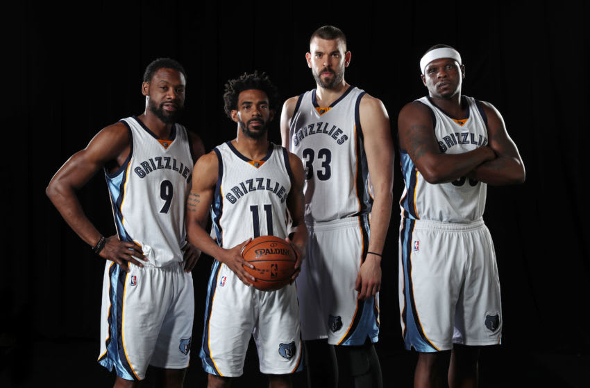 Tony Allen Mike Conley Marc Gasol Zach Randolph Memphis Grizzlies (Photo by Joe Murphy/NBAE via Getty Images)