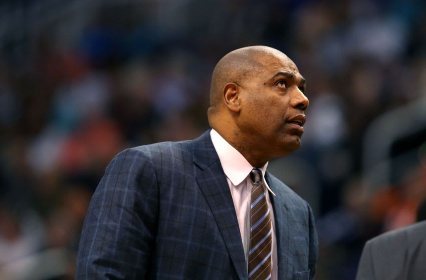 Jan 19, 2015; Phoenix, AZ, USA; Los Angeles Lakers assistant coach Paul Pressey against the Phoenix Suns at US Airways Center. The Suns defeated the Lakers 115-100. Mandatory Credit: Mark J. Rebilas-USA TODAY Sports