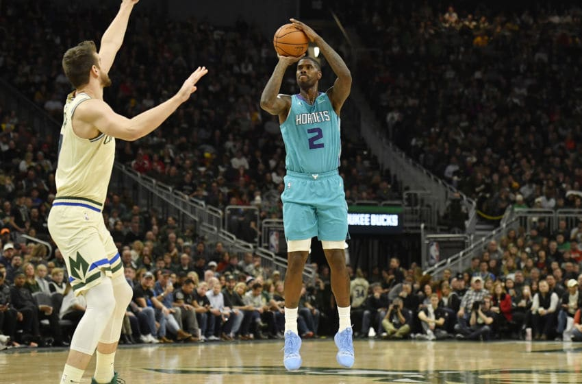 MILWAUKEE, WISCONSIN - NOVEMBER 30: Marvin Williams #2 of the Charlotte Hornets shoots a jumper against the Milwaukee Bucks at Fiserv Forum on November 30, 2019 in Milwaukee, Wisconsin. NOTE TO USER: User expressly acknowledges and agrees that, by downloading and or using this photograph, User is consenting to the terms and conditions of the Getty Images License Agreement. (Photo by Quinn Harris/Getty Images)