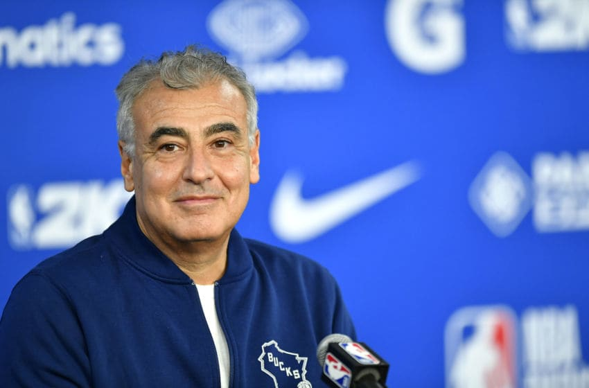 PARIS, FRANCE - JANUARY 24: Marc Lasry attends a press conference before the NBA Paris Game match between Charlotte Hornets and Milwaukee Bucks on January 24, 2020 in Paris, France. (Photo by Aurelien Meunier/Getty Images)