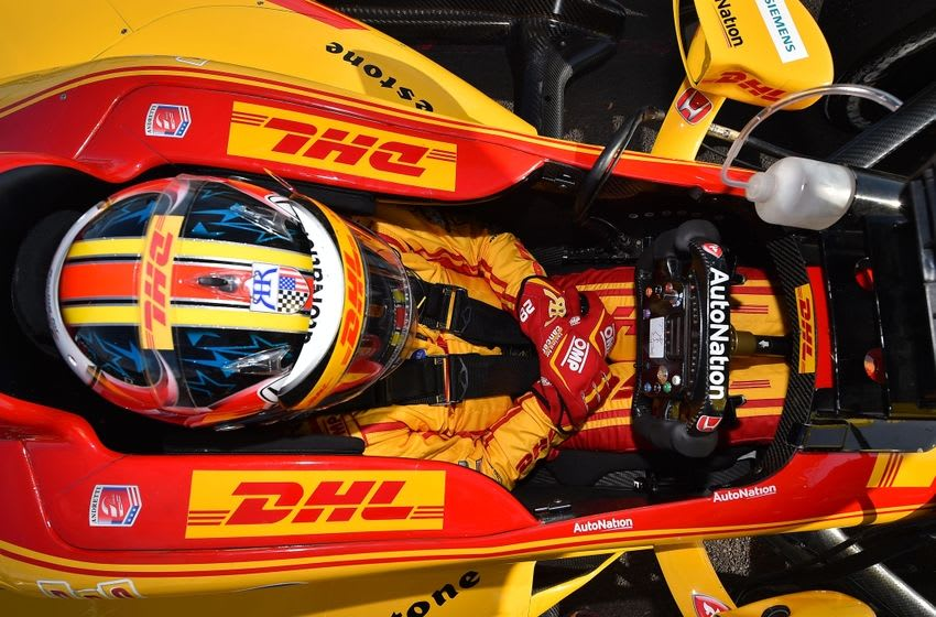 Ryan Hunter-Reay during practice for the Grand Prix of St. Petersburg. Mandatory Credit: Jasen Vinlove-USA TODAY Sports