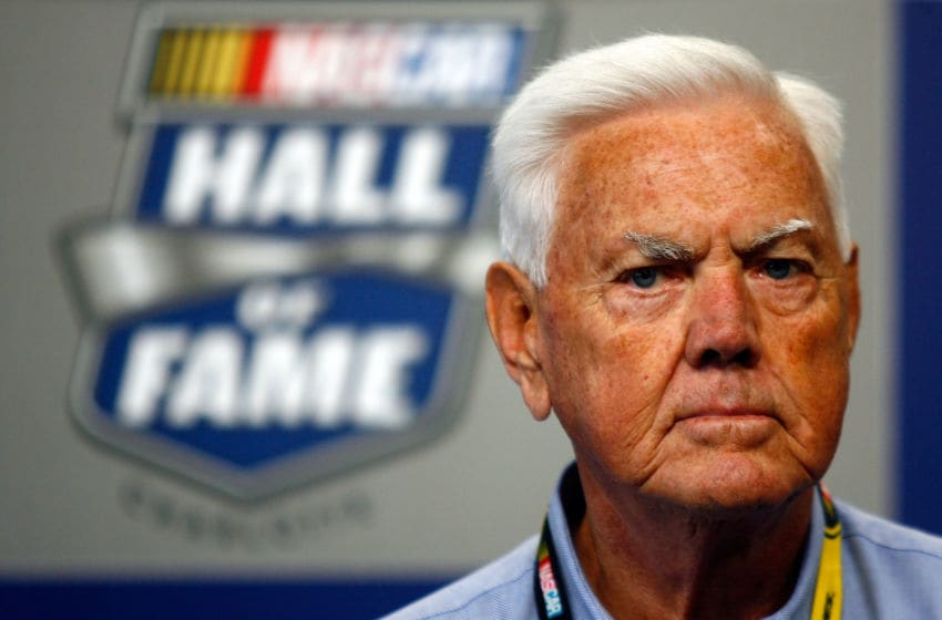 CONCORD, NC - MAY 22: Former NASCAR driver Junior Johnson speaks to the media at Charlotte Motor Speedway on May 22, 2010 in Concord, North Carolina. (Photo by Jason Smith/Getty Images for NASCAR)