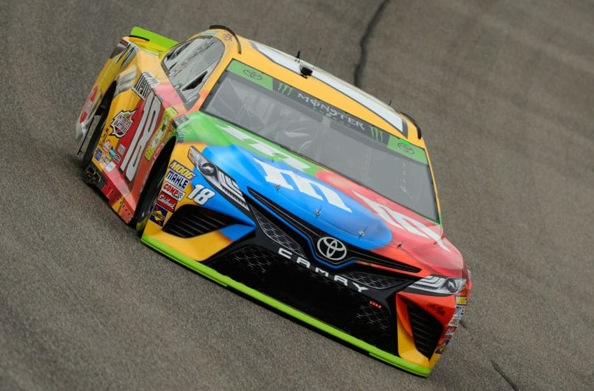 HOMESTEAD, FL - NOVEMBER 16: Kyle Busch, driver of the #18 M&M's Toyota, during practice for the Monster Energy NASCAR Cup Series Ford EcoBoost 400 at Homestead-Miami Speedway on November 16, 2018 in Homestead, Florida. (Photo by Robert Laberge/Getty Images)