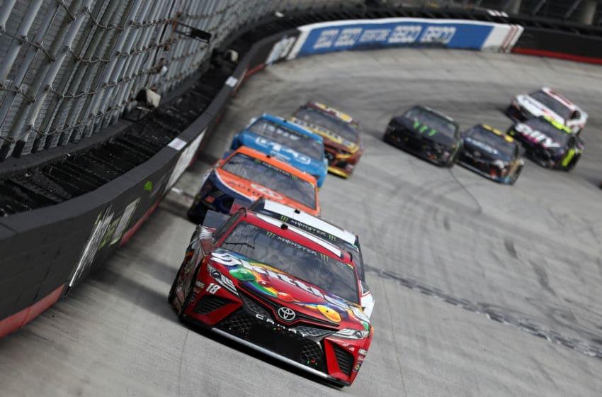 Kyle Busch, Joe Gibbs Racing, Bristol Motor Speedway, NASCAR (Photo by Chris Graythen/Getty Images)