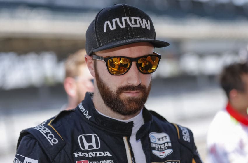 INDIANAPOLIS, IN - MAY 18: James Hinchcliffe #5 of Canada and Arrow Schmidt Peterson Motorsports, is seen at the Indianapolis Motor Speedway on May 18, 2019 in Indianapolis, Indiana. (Photo by Michael Hickey/Getty Images)