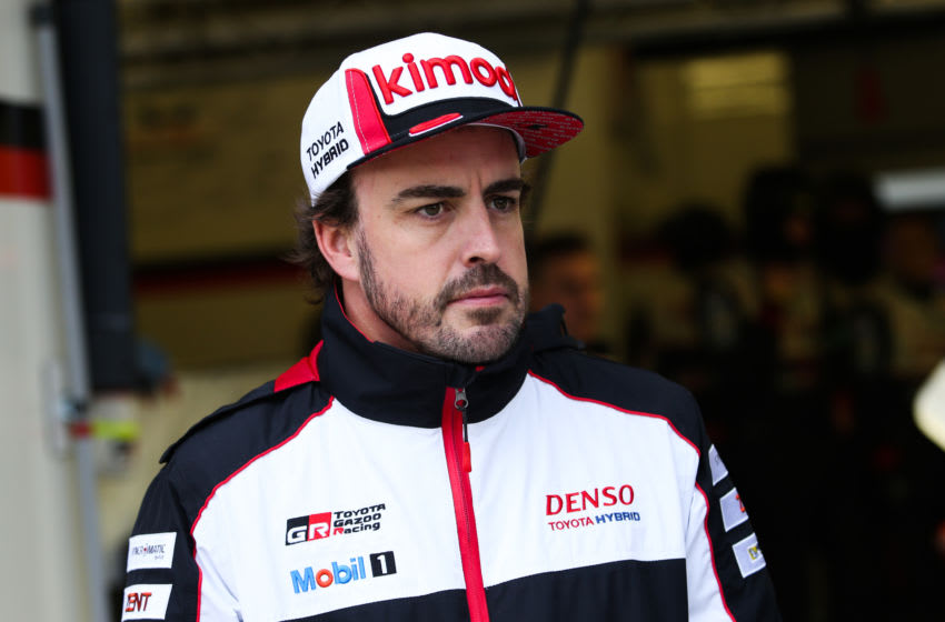 LE MANS, FRANCE - JUNE 12: Fernando Alonso of Spain and Toyota Gazoo Racing ahead of the 24 Hours of Le Mans, on June 12, 2019 in Le Mans, France. (Photo by James Moy Photography/Getty Images)