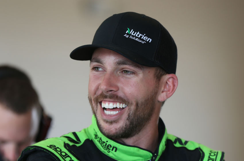 JOLIET, ILLINOIS - JUNE 28: Ross Chastain, driver of the #10 Nutrien Ag Solutions Chevrolet, stands by his car during practice for the NASCAR Xfinity Series Camping World 300 at Chicagoland Speedway on June 28, 2019 in Joliet, Illinois. (Photo by Matt Sullivan/Getty Images)