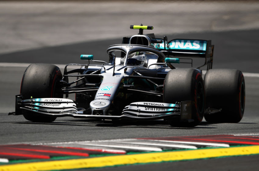 SPIELBERG, AUSTRIA - JUNE 29: Valtteri Bottas driving the (77) Mercedes AMG Petronas F1 Team Mercedes W10 on track during final practice for the F1 Grand Prix of Austria at Red Bull Ring on June 29, 2019 in Spielberg, Austria. (Photo by Bryn Lennon/Getty Images)