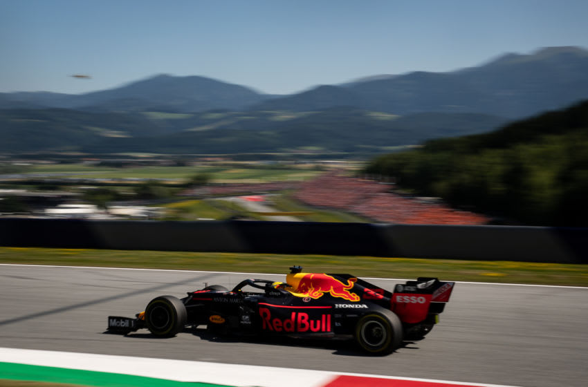 SPIELBERG, AUSTRIA - JUNE 30: Max Verstappen of the Netherlands driving the (33) Aston Martin Red Bull Racing RB15 on track during the F1 Grand Prix of Austria at Red Bull Ring on June 30, 2019 in Spielberg, Austria. (Photo by Lars Baron/Getty Images)