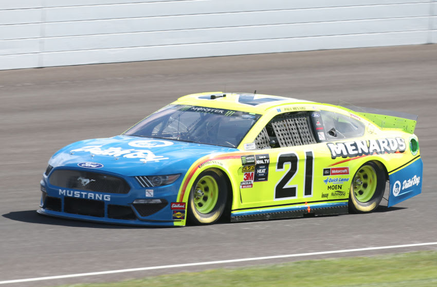 INDIANAPOLIS, INDIANA - SEPTEMBER 07: Paul Menard, driver of the #21 Menards/Dutch Boy Ford, drives during practice for the Monster Energy NASCAR Cup Series Big Machine Vodka 400 at Indianapolis Motor Speedway on September 07, 2019 in Indianapolis, Indiana. (Photo by Matt Sullivan/Getty Images)