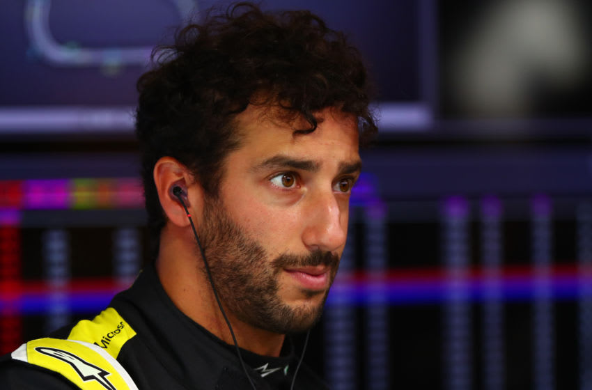 SAO PAULO, BRAZIL - NOVEMBER 15: Daniel Ricciardo of Australia and Renault Sport F1 prepares to drive in the garage during practice for the F1 Grand Prix of Brazil at Autodromo Jose Carlos Pace on November 15, 2019 in Sao Paulo, Brazil. (Photo by Dan Istitene/Getty Images)
