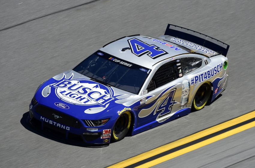 DAYTONA BEACH, FLORIDA - FEBRUARY 08: Kevin Harvick, driver of the #4 Busch Light #PIT4BUSCH Ford, practices for the NASCAR Cup Series Busch Clash at Daytona International Speedway on February 08, 2020 in Daytona Beach, Florida. (Photo by Jared C. Tilton/Getty Images)