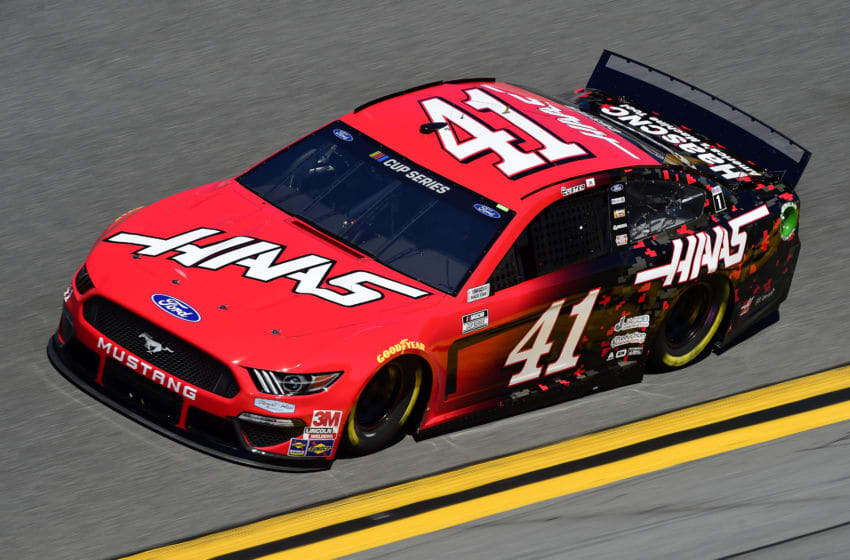 DAYTONA BEACH, FLORIDA - FEBRUARY 08: Cole Custer, driver of the #41 Haas Automation Ford, practices for the NASCAR Cup Series 62nd Annual Daytona 500 at Daytona International Speedway on February 08, 2020 in Daytona Beach, Florida. (Photo by Jared C. Tilton/Getty Images)