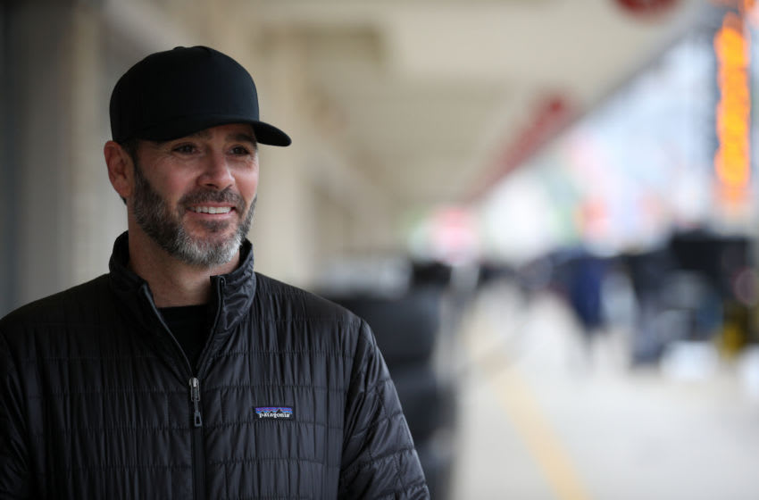 AUSTIN, TEXAS - FEBRUARY 11: NASCAR driver Jimmie Johnson attends NTT IndyCar Series testing at Circuit of The Americas on February 11, 2020 in Austin, Texas. (Photo by Chris Graythen/Getty Images)