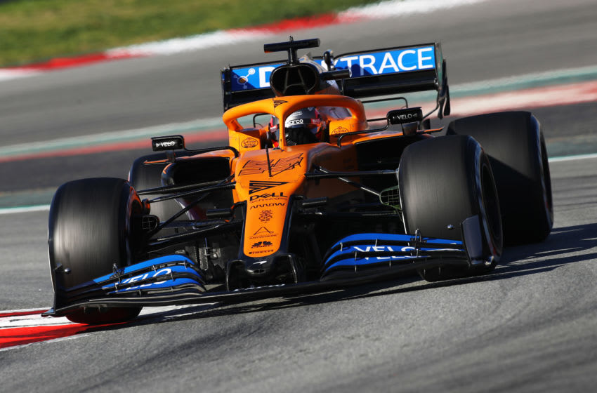 BARCELONA, SPAIN - FEBRUARY 28: Carlos Sainz of Spain driving the (55) McLaren F1 Team MCL35 Renault on track during Day Three of F1 Winter Testing at Circuit de Barcelona-Catalunya on February 28, 2020 in Barcelona, Spain. (Photo by Mark Thompson/Getty Images)