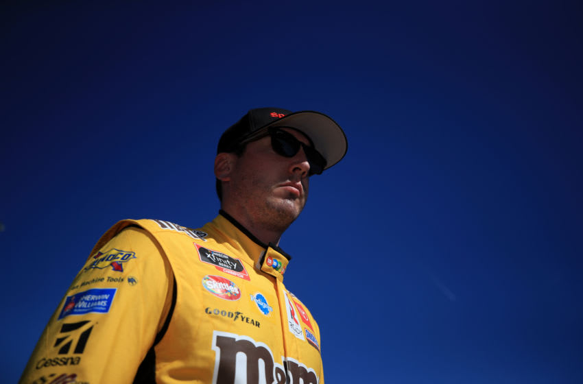 AVONDALE, ARIZONA - MARCH 06: Kyle Busch, driver of the #18 Sport Clips Toyota, prepares to drive during practice for the NASCAR Cup Series FanShield 500 at Phoenix Raceway on March 06, 2020 in Avondale, Arizona. (Photo by Chris Graythen/Getty Images)