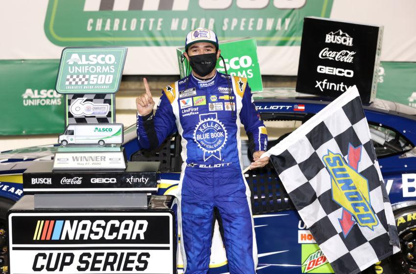 Chase Elliott, Hendrick Motorsports, Charlotte Motor Speedway, NASCAR, Cup Series. (Photo by Chris Graythen/Getty Images)